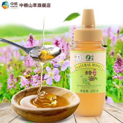中糧山萃純正蜂蜜多規格瓶裝 天然蜂制品擠壓式口裝 250g(1~3瓶)