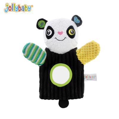 jollybaby快樂寶貝立體毛絨動物嬰兒玩具0-1-3歲寶寶安撫玩偶手偶-手偶-熊貓