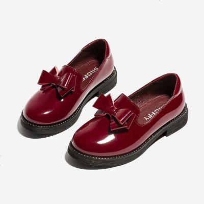 兒童黑色皮鞋女童公主鞋2019秋季新款童鞋學生鞋子英倫中大童單鞋