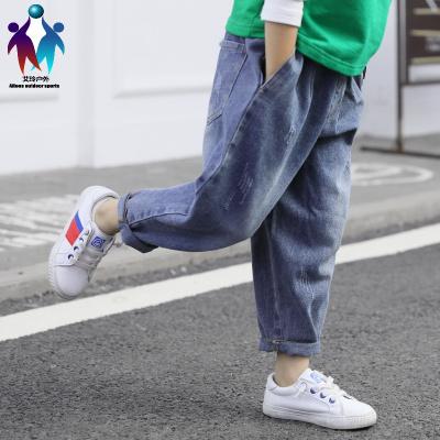 【厂家直营】男童秋冬装裤子2019新款儿童牛仔裤加绒加厚男孩洋气保暖宽松长裤
