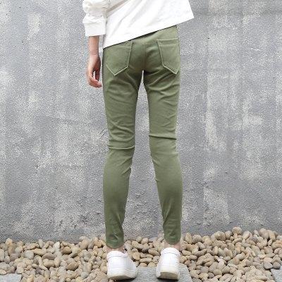 春夏休闲女儿童裤子中大女童紧身小脚裤打底弹力薄款铅笔裤潮