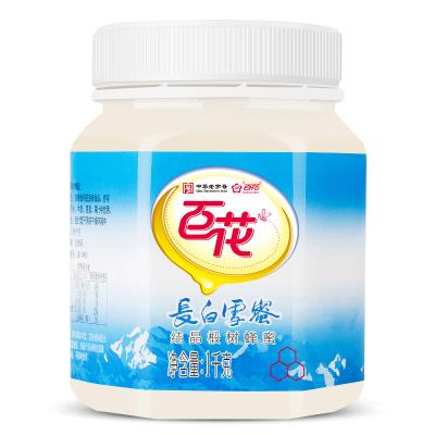 百花牌長白雪蜜1000g蜂蜜水沖泡即飲早茶甜食制品飲料瓶裝