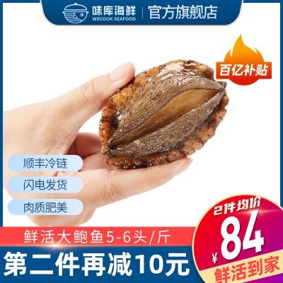 味庫鮮活鮑魚5-6只裝/500g大個鮑魚500g鮮活海鮮水產