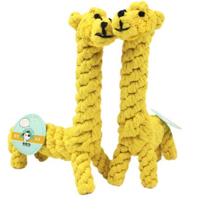 憨憨寵 狗玩具狗咬繩狗狗磨牙動物繩結貓玩具耐咬寵物繩結玩具