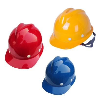 規格【材質:塑鋼V型 紅/黃/藍 顏色備注 兩個裝 】安全帽防砸抗沖擊建筑施工工地領導勞保頭盔
