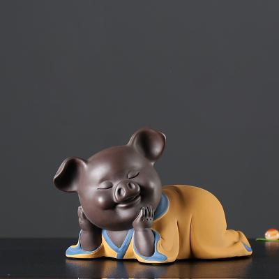 千猪变只进不出小猪存钱储钱罐紫砂礼品创意家居摆件