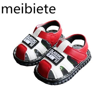 20夏季兒童軟底童鞋叫叫鞋子寶寶涼鞋嬰兒學步鞋男童涼鞋1-2歲