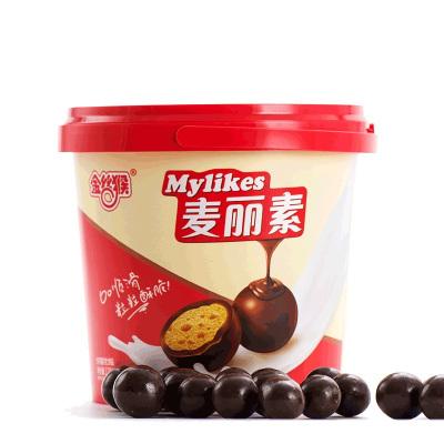 【買兩份減5元】金絲猴麥麗素128g桶裝牛奶夾心巧克力懷舊兒童小零食(代可可脂)