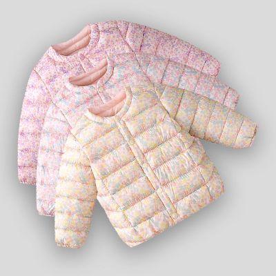 秋冬新款兒童羽絨棉衣外套女童寶寶棉襖輕薄保暖羽絨棉服內膽上衣