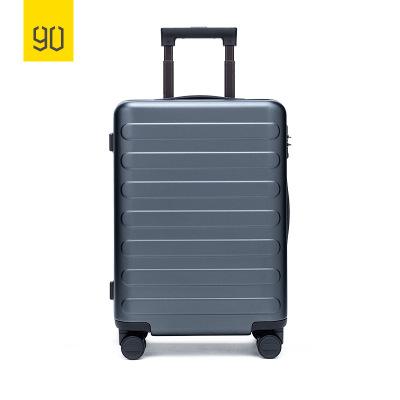 90分商旅兩用旅行箱靜音萬向輪商務登機行李箱子 男女密碼拉桿箱 鈦金灰 20寸