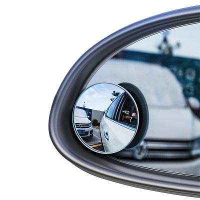 倍思 后视镜小圆镜汽车倒车盲区辅助镜360度多功能盲点反光镜防雨