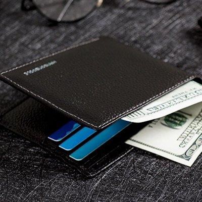 【頭層牛皮】漢森布爾/hansonboole 男士錢包男商務休閑百搭皮包手拿休閑錢夾橫款錢包