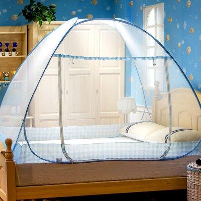迎馨 免安装蒙古包有底蚊帐 防蚊布可折叠钢丝魔术蚊帐