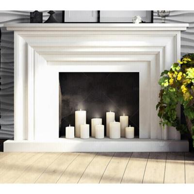 實木白色壁爐架裝飾柜歐式簡約客廳裝飾壁爐電視背景墻