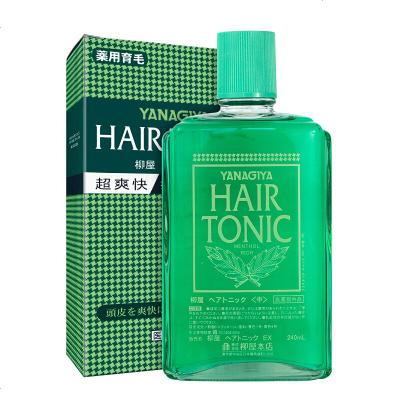 日本柳屋(YANAGIYA)柳屋生發液hair tonic發根生頭發精華240ml 營養水綠色經典有香型