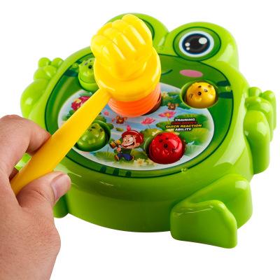 儿童玩具青蛙电动打地鼠玩具益智宝宝1-2-3岁男孩女孩敲打玩具