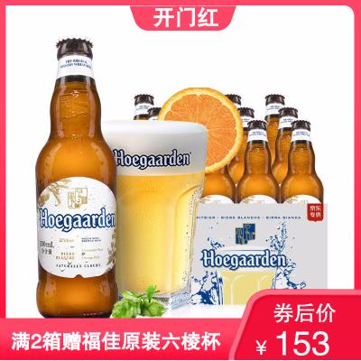 比利時進口藍蓋 Hoegaarden福佳白啤酒330ml*24瓶整箱 風味精釀小麥啤酒
