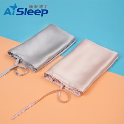 睡眠博士(AiSleep)真丝纯色枕巾凉枕巾 100桑蚕丝丝绸枕巾枕头套单人 74*52cm 四季通用