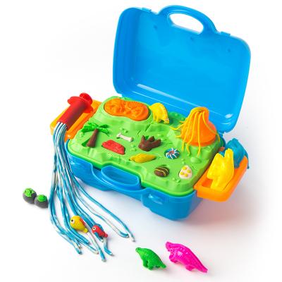 JoanMiro美乐 儿童彩泥套装女孩橡皮泥手工泥 恐龙玩具彩泥面粉礼品套装 恐龙世界
