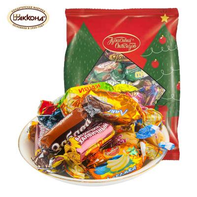 俄罗斯进口阿孔特混合巧克力夹心糖500g零食年货糖果