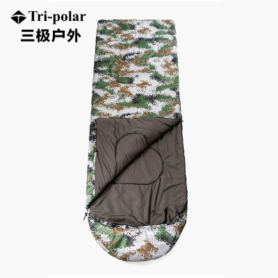 三极户外(Tripolar) TP2908 睡袋户外旅行秋冬季成人迷彩睡袋轻便室内露营隔脏保暖便携式棉睡袋