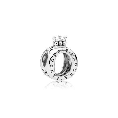 PANDORA潘多拉 皇冠字母O 925银串饰 创意DIY手链串珠饰品女 797401
