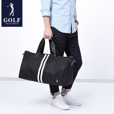 高爾夫GOLF旅行包防水加大容量行李包男女款健身包撞色手提包時尚旅游包男士出差包