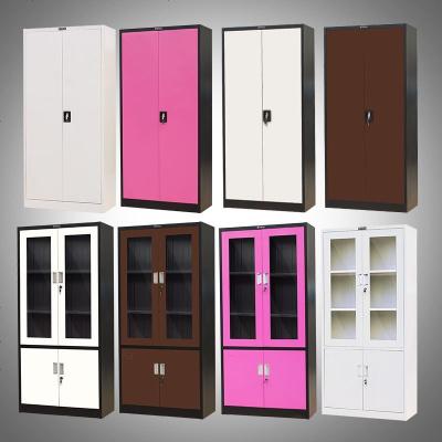加厚钢制文件柜资料柜档案柜带锁玻璃柜铁皮柜子财务凭证柜