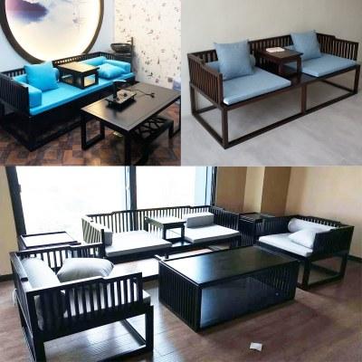 枳记家 百和-新中式实木沙发罗汉床 现代简约禅意古典定制家具 茶艺待客