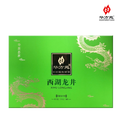 深圳華方苑茗茶直銷雙龍系列西湖龍井150g禮品大禮盒