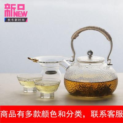 玻璃捶纹茶杯功夫茶道品茗杯家用茶具玻璃杯子日式六角锤纹杯