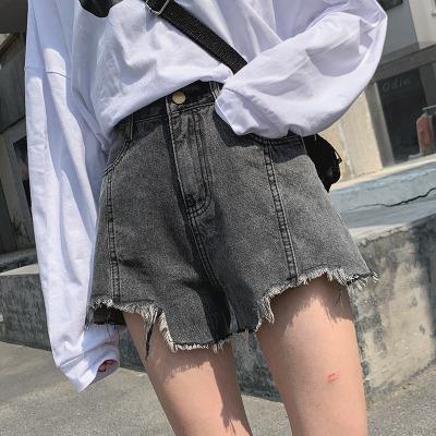 輕奢世家2020夏季新款女士牛仔褲女短褲剪邊毛邊韓版時尚短褲