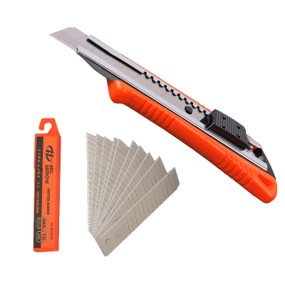 华丰巨箭(HUAFENG BIG ARROW)大号包胶美工刀18MM双色壁纸刀单色美工刀+刀片