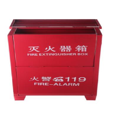 二氧化碳灭火器箱子消防箱可装3KGX2只灭火器箱家用商用消防器材3kgX2位灭火器箱