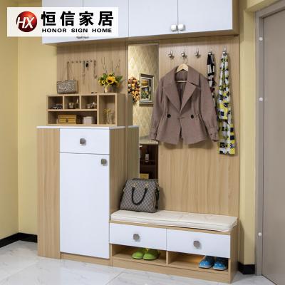 恒信家居(HX) 門廳柜定制簡約現代 門廳柜 鞋架 客廳多功能 儲藏 簡易儲物柜 家具 歐式【預付金】