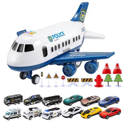 育兒寶兒童玩具大號可收納飛機模型帶燈光音樂仿真客機男孩寶寶玩具車