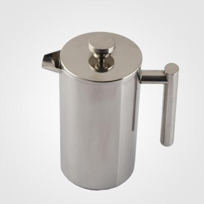 304不锈钢法压壶 法式滤压壶 家用手动咖啡壶冲茶壶 便携过滤壶