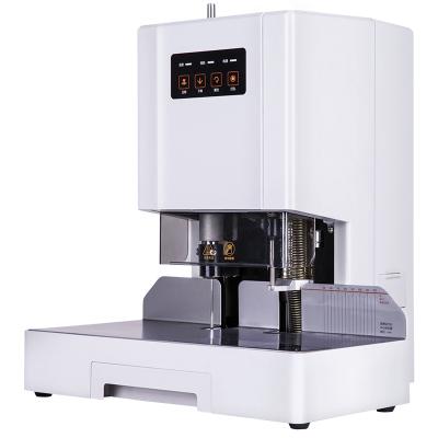 得力(deli)14601自動財務憑證裝訂機電動檔案文件激光定位打孔機