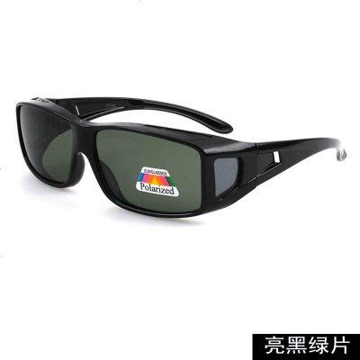 2019新款偏光太阳镜男骑行户外防风沙眼镜驾驶墨镜开车专用夜视镜 亮黑偏光风镜 送眼镜布
