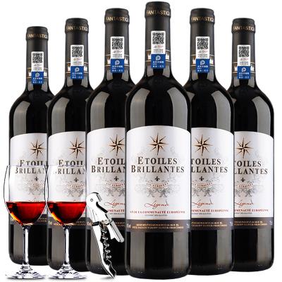 【法國原瓶】進口紅酒 傳奇干紅葡萄酒750ml整箱6支裝