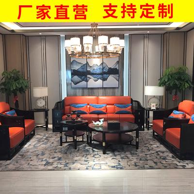 邁菲詩新中式實木布藝沙發沙發組合大中小戶型客廳禪意家具簡約現代中式