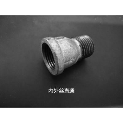 自來水管配件鍍鋅瑪鋼鐵CIAA接頭4分DN15立體四通 外接 直通 彎頭三通 4分內外絲直通