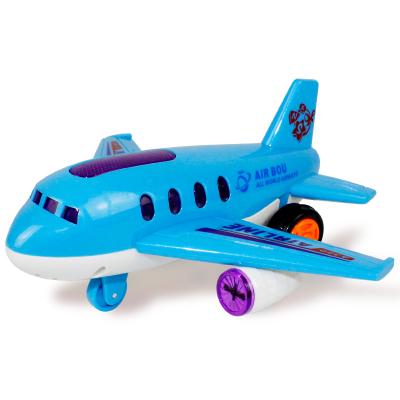 港比熊玩具儿童宝宝仿真飞机带灯光音乐玩具惯性仿真汽车模型玩具1-3-6岁男孩玩具飞机(随机色)XNS7703