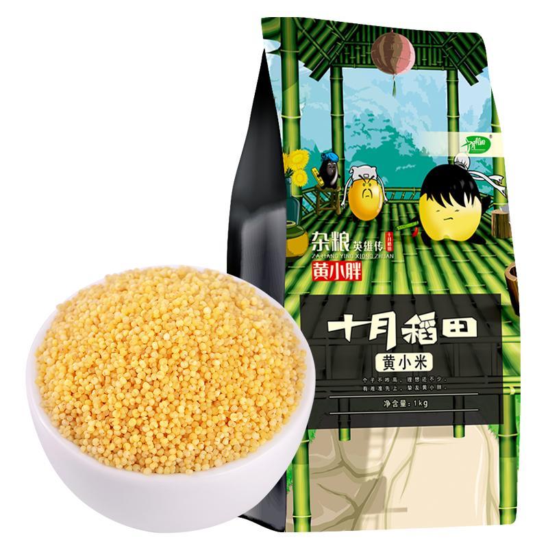 十月稻田 东北黄小米粥新米吃的小黄米月子米熬粥食用五谷杂粮米1kg