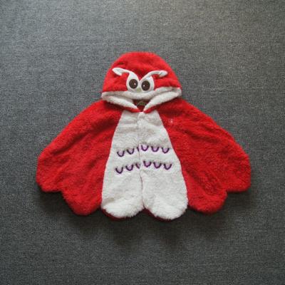 小童女童宝宝婴幼儿婴童秋冬季夹棉造型斗篷披风披肩eb