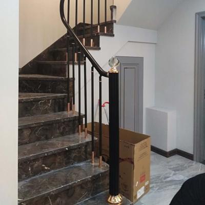 符象樓梯扶手簡約現代陽臺圍欄護欄家用鐵藝樓梯扶手立柱歐式鋁藝 粗金(根)