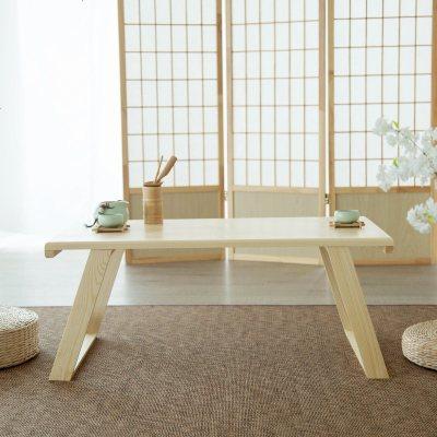 日式窗台地台桌飘窗桌子榻榻米茶几实木炕桌矮桌电脑桌阳台小餐桌