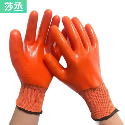 【4雙裝全膠手套】浸膠勞保手套耐磨防水防油工作防護膠皮手套 莎丞(SHACHEN)