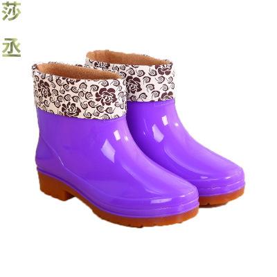 雨鞋雨靴防水鞋女廚房洗車膠鞋靴套鞋成人防滑洗衣服 莎丞(SHACHEN)