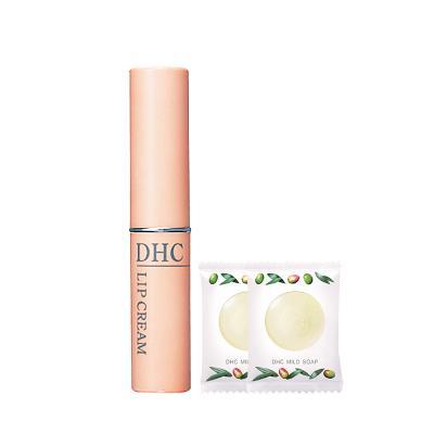 DHC橄欖護唇膏橄欖蜂蜜皂套裝日本原裝進口男女潤唇膏改善唇紋保濕防干裂無色打底潤澤唇部保濕補水經典款